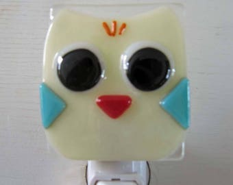 Ellie - Owl: Fused Glass Night Light - Free Shipping!