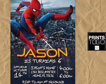 Spiderman Invitation, Spiderman Homecoming, Spiderman Birthday, Spiderman Invite, Spiderman Party, Spiderman Printables, Spiderman Custom