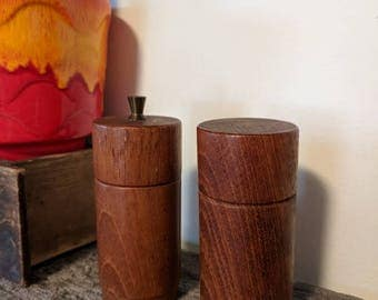 Danish Teak Salt and Pepper Shaker Set