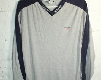 Tommy Hilfiger 90s Long sleeve shirt collar print two toned