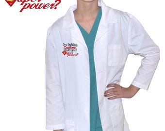 Kids Lab Coat with I'm Fighting Cancer embroidery Design
