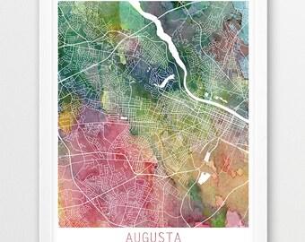 Augusta street map Etsy