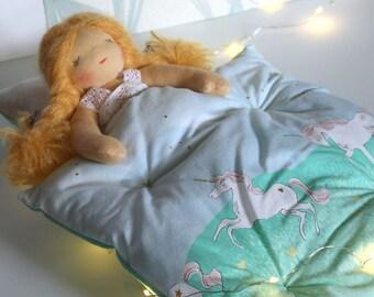 Unicorns for dolls bed