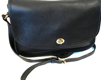 COACH Handbag City Bag #9790 Black Leather cross body purse