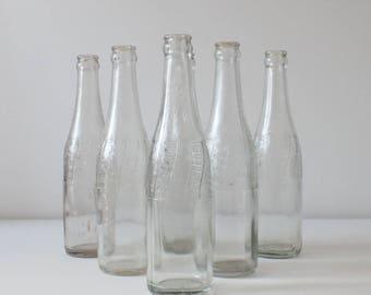 4 x Vintage 1940s pepsi bottles