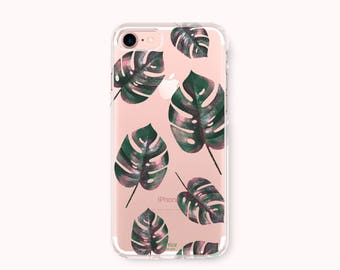 iPhone 7 Case, iPhone 7 Plus Case, iPhone 6/6S Case, iPhone 6 Plus/6S Plus Case, iPhone 5/5S/SE Case, Galaxy S8/S8 Plus Case - Monstera