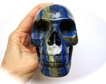 Lapis Lazuli Crystal Skull 96mm 650g