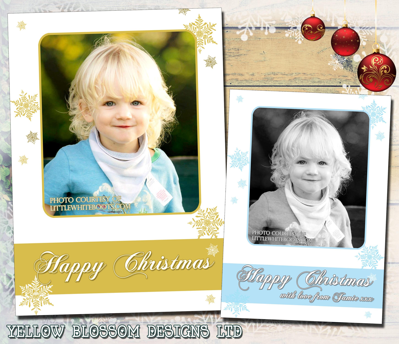 10 Custom Made Child Baby Family Keepsake Photo Christmas Greeting