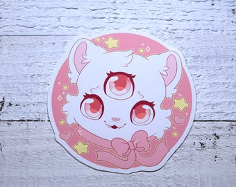 Kawaii 3 Eyed Cat Sticker
