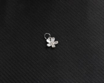2Pcs 10mm Sterling Silver Small Flower Pendants 925 Silver Charms Wholesale For Bridesmaid Gift Party YX-Y334