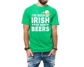 St Patty Day T-Shirt Funny Irish Beer Drinking Irish Pub St Patrick's Day Green Tee Shirt
