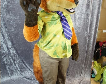 Fox Partial Fursuit - Nick Wilde Cosplay Custome, Zootopia, Ready to Ship