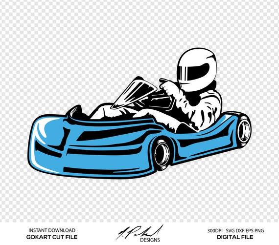 GoKart Digital Cut Files - Digital Files - GoKart SVG - Go Kart DXF ...