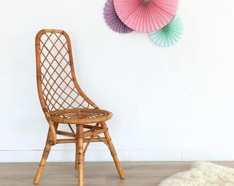 Rattan chair, mid century chair, vintage, chair, mid century modern, 60s, model Madeleine