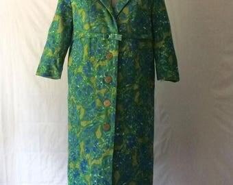 ON SALE Vintage Floral Coat