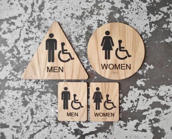 Bathroom Signs California california title 24 restroom signs ada compliant bathroom