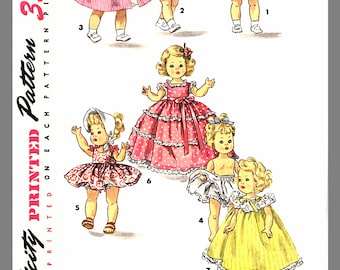 """Vintage Doll Clothes Suitable For Alexander -Kins Ginny Muffie Sewing Pattern 8"""" Doll's # 1372 Reprint / Copy"""