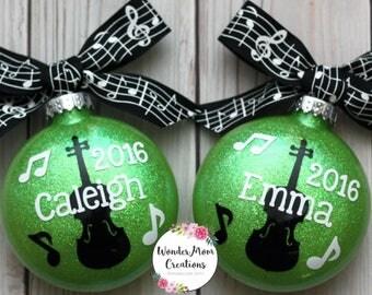 Violin Player Christmas Ornament, Musical Personalized Ornament, Any Instrument Christmas Ornament, Music Theme Christmas Ornament