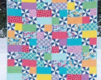 Sewing Pattern Playful 2 Cluck Cluck Sew Allison Harris Fat Quarter Quilt Baby Quilt Twin Quilt Queen Quilt King Quilt Pattern