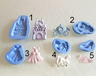 Silicone molds to choose from, cinderella theme