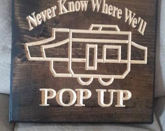 Pop Up Camper Sign for Personalization