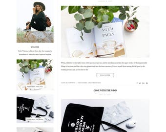 Wordpress Theme - Responsive  Wordpress Template - Lifestyle Blog Template - Clean Minimalist Theme - Genesis Child Theme // BLOOM