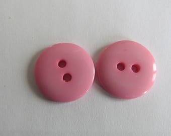 Cute button * light pink flat round