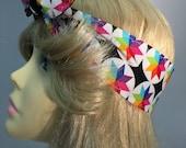 Rainbow Burst PinUp Style Headband