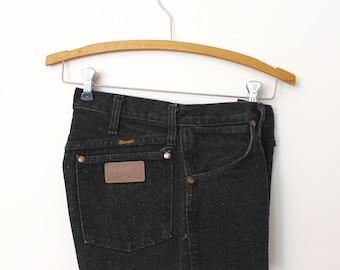 Black Cut Off Shorts - Wrangler Shorts - Cut Off Shorts - Denim Shorts - Black - USA - 28 - 29