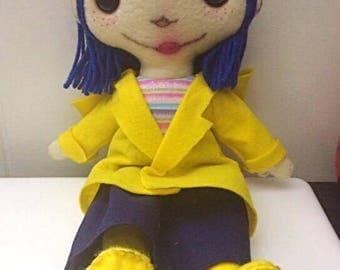 "Handmade 16"" Coraline Inspired Doll."