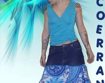 Asymmetrical skirt ' life in.. .Blue '