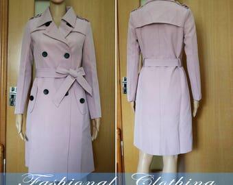 pink Army green gray Dark blue coat spring autumn long coat women clothing women coat long sleeve coat jacket outerwear dress