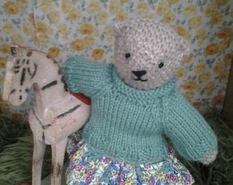 handmade knitted teddy bear