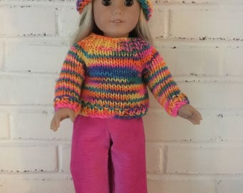 American Girl Doll clothing -  Sweater and pants outfit