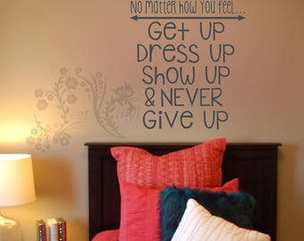 No Matter How You Feel   Wall Decals   Wall Decal   Wall Vinyl   Wall