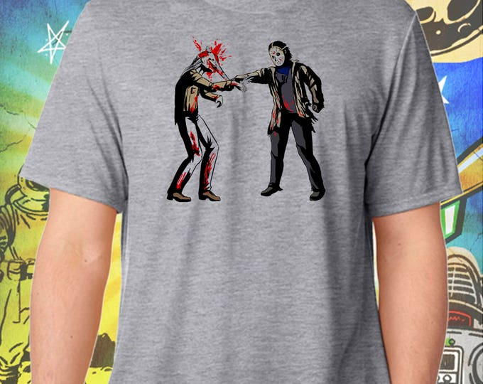 Jason Vorhees Hates Walking Dead Zombies Gray Men's T-Shirt