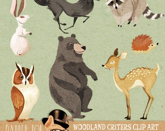 Woodland Animals | Critter Friends Clipart Collection