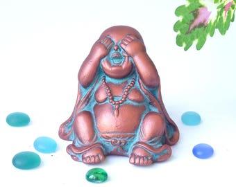 Buddha/ Yoga/ Laughing Buddha/ Buddha Meditation Yoga Decor/ Zen / Buddha Altar Statue/ Zen Garden/ Buddha Statue/ Yoga Gifts/ Zen Decor