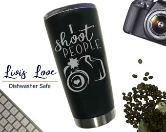 Photographer Gift - Photography mug - gift for wedding photographer - thank you gift stainless steel coffee thermos photographer travel mug