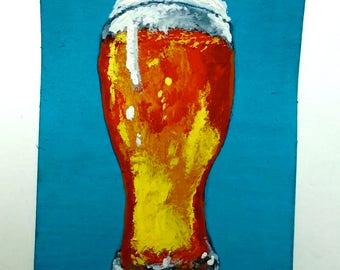 "Belgian Craft Beer #239 (ARTIST TRADING CARDS) 2.5"" x 3.5"" by Mike Kraus"
