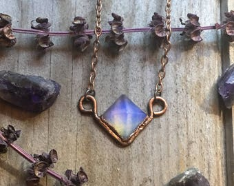 Ava Necklace - Opalite