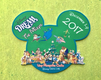Disney Cruise Magnet - Very Merrytime Cruise Magnet -  Disney Cruise Merrytime Cruise Magnet - Christmas Magnet - Fish Extender Gift
