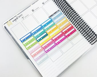 Habit Stickers (28 Glossy Planner Stickers)