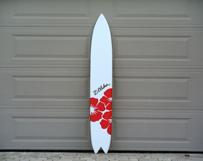 Wooden Event Aloha Surfboard Wall Sign. Party decor. Hawaiian Tropical surfboard wall art. Wood Guestbook Wedding Ceremony Decor