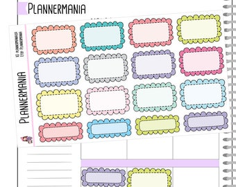 Frilly Half Boxes Functional Stickers Planner Stickers 929