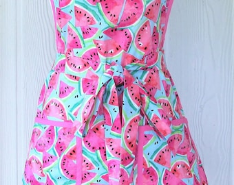 Cute Watermelon Apron, Vintage Inspired, Retro Style, KitschNStyle
