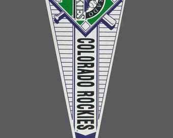 "Colorado Rockies Pennant Vintage Large Felt Officially Licensed MLB Product Baseball Team Souvenir 30"" Flag Full Size"