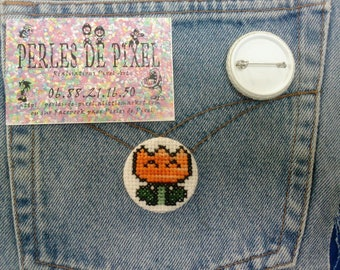 Show your inner fireball! Stand out with the correct item! Hand embroidered badge