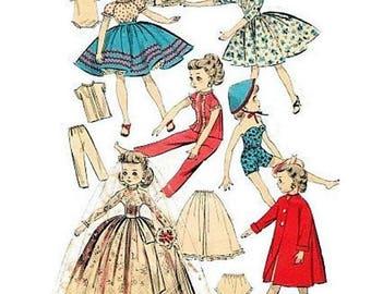 Little Miss Revlon Doll Clothes Pattern, Vintage 1950s, Cissette, Jill, Toni, 10.5 Inch Dolls, PDF Pattern, Digital Download