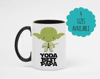 Yoda Best Papa Star Wars Coffee Mug Gift from Grandkids
